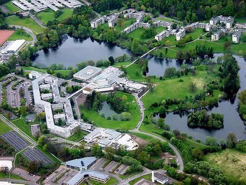 University Campus (main venue at upper left)